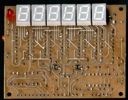 """Плата индикации """"без клавы"""", синтез с 89С52"""