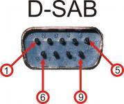 Разъём D-SAB для внешнего управления усилителем