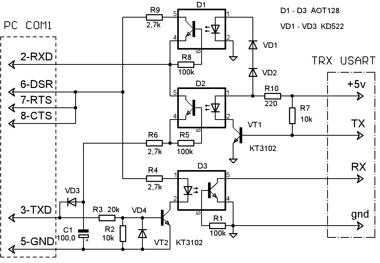 схема частотомера на pic 16f628